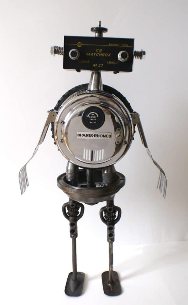 Robot Maker From Found Objects Recycled Art