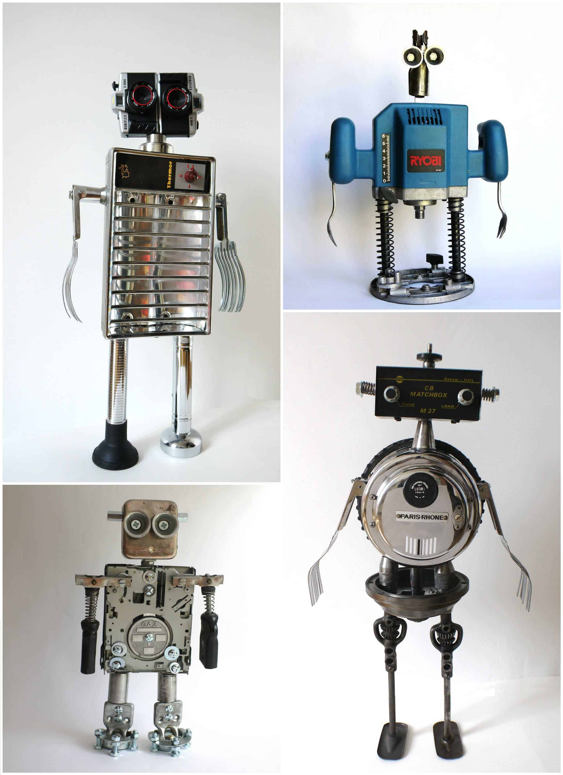 Robot Maker From Found Objects Recyclart