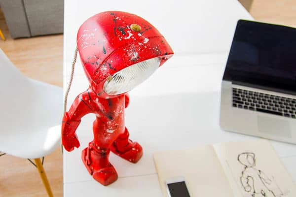 The Lampster: Little Robot Lights From Upcycled Vehicle Lamps 10
