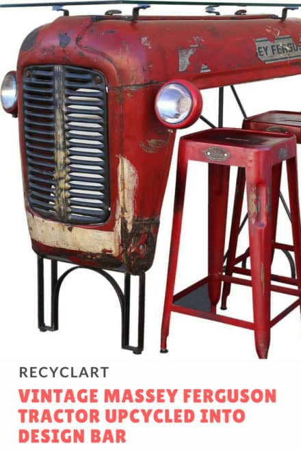 Vintage Massey Ferguson Tractor Upcycled Into Design Bar