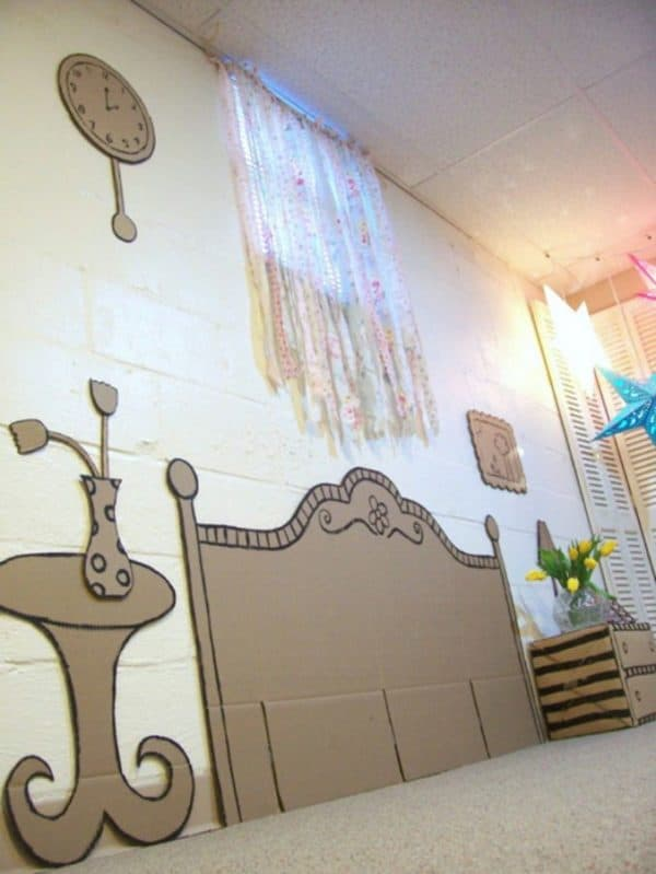 Cardboard Décor Ideas for a Kids Room or a Kids Party Recycled Cardboard