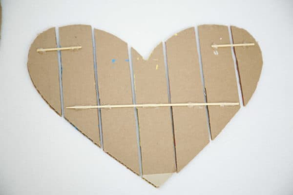 Cardboard Valentine Heart Do-It-Yourself Ideas Recycled Cardboard
