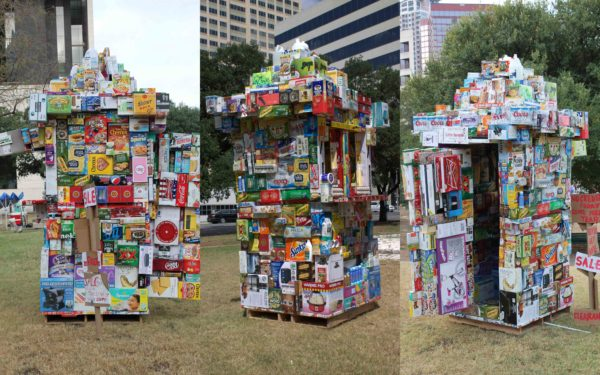 Grocery Store From Upcycled Packaging Boxes Interactive, Happening & Street Art Recycled Packaging