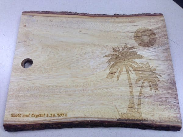 Laser Engraved Coolness Wood & Organic