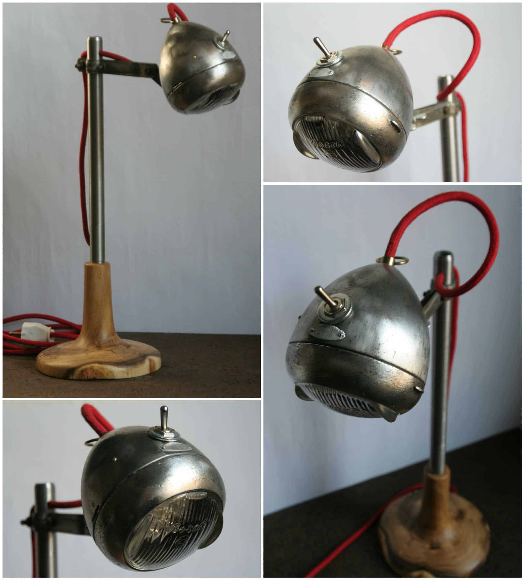 Light Rider: Desk Lamp from Upcycled Bike Light • Recyclart