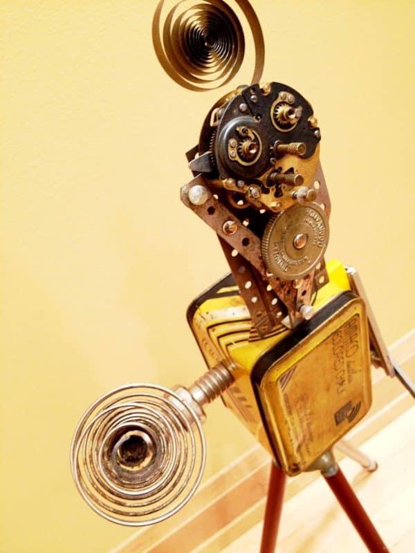 Robo-tins Recycled Art