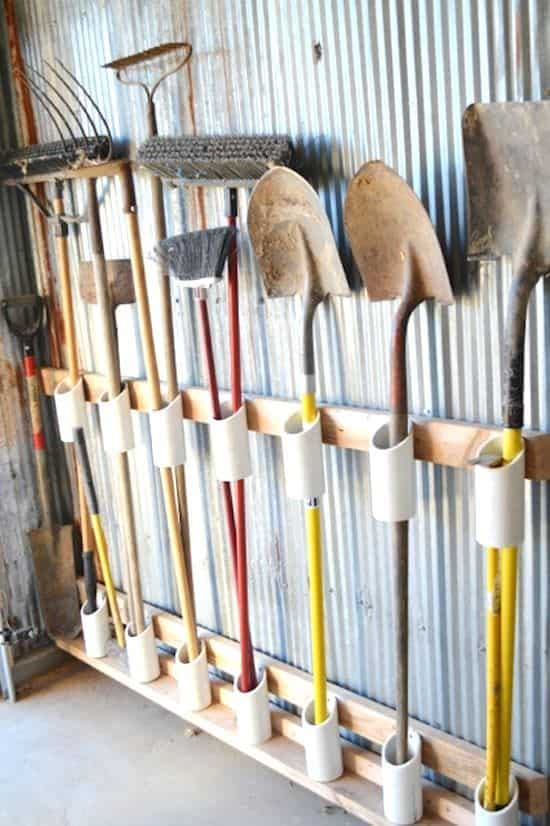 ... the Best & Easy Garden Tool Rack You Can Make from Recycled Materials