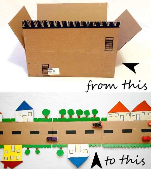 Cardboard Road Recycled Cardboard