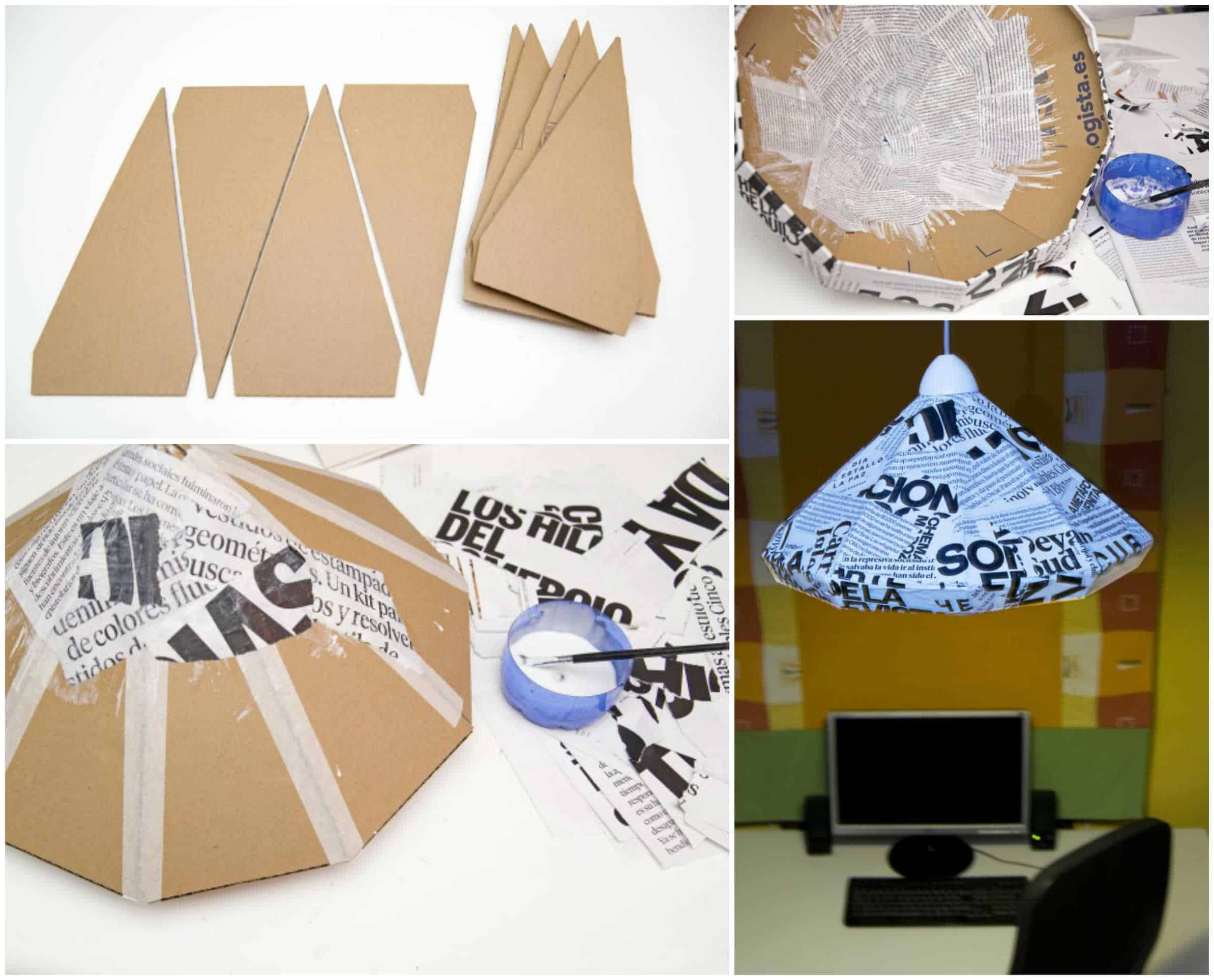 How To Make A Lamp With Cardboard And Paper • Recyclart for Recycled Paper Lamp  177nar