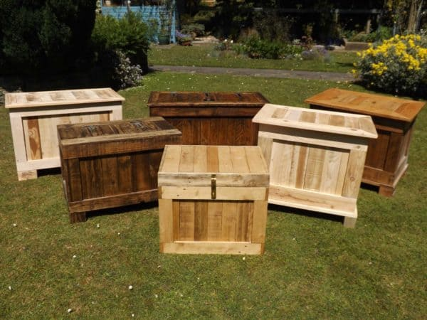 Ottomans & Storage Boxes Made From Recycled Wood Recycled Furniture
