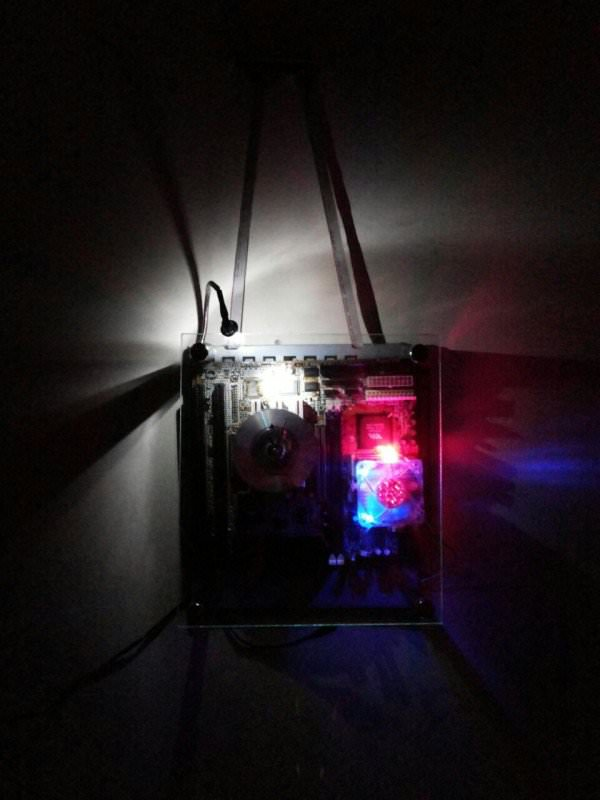 Recycled Motherboard Into Clock With Dim Arc Light Recyclart