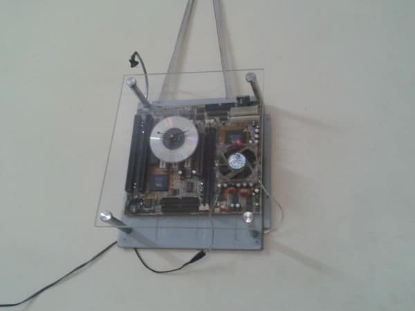 Recycled Motherboard Into Clock With Dim Arc Light Accessories Recycled Electronic Waste
