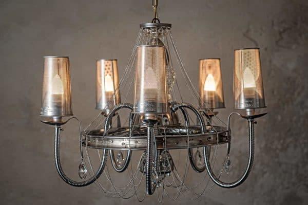 Spirolustre From Upcycled Kitchen Utensil Lamps & Lights