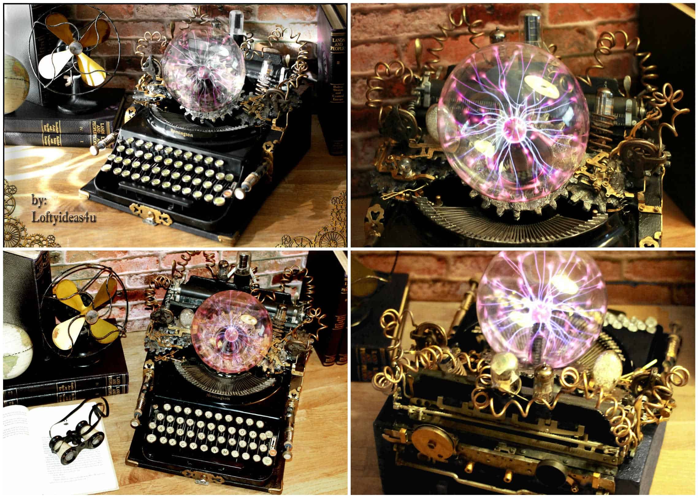 Steampunk Upcycled Vintage 1920 Remington Typewriter