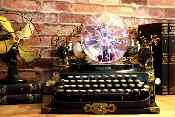 Steampunk Upcycled Vintage 1920 Remington Typewriter Repurposed Plasma Desk Lamp Lamps & Lights