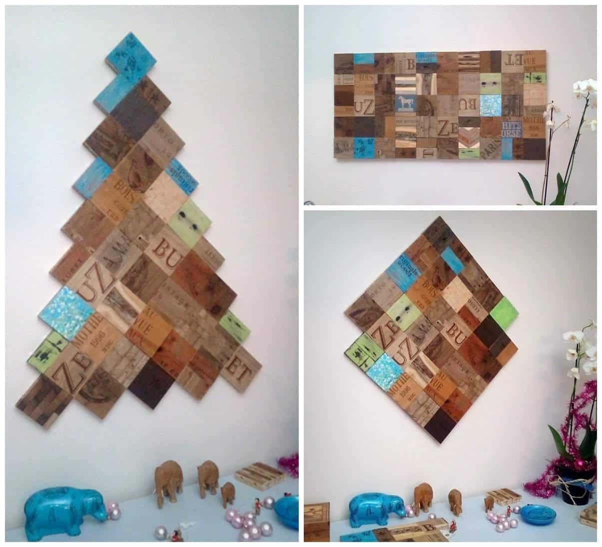 Unlimited creative decor using 4x4 magnetic reclaimed wood for Art decoration