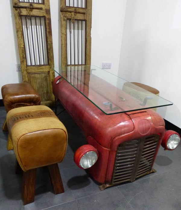 Coffee Table From an Upcycled Massey Ferguson Tractor Mechanic & Friends Recycled Furniture