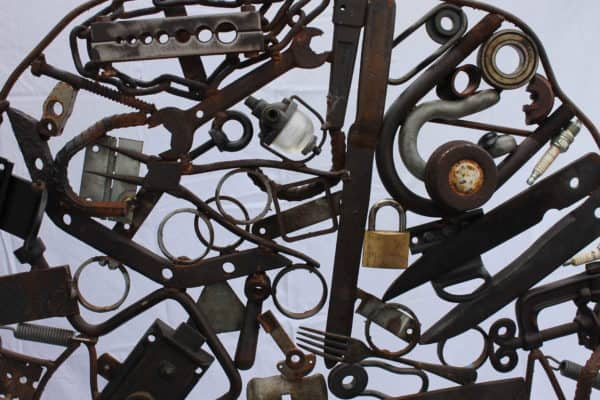 Connection – Recycled Metal Sculpture Recycled Art Recycling Metal