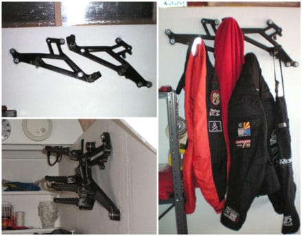 Ducati Parts Into Coat Rack