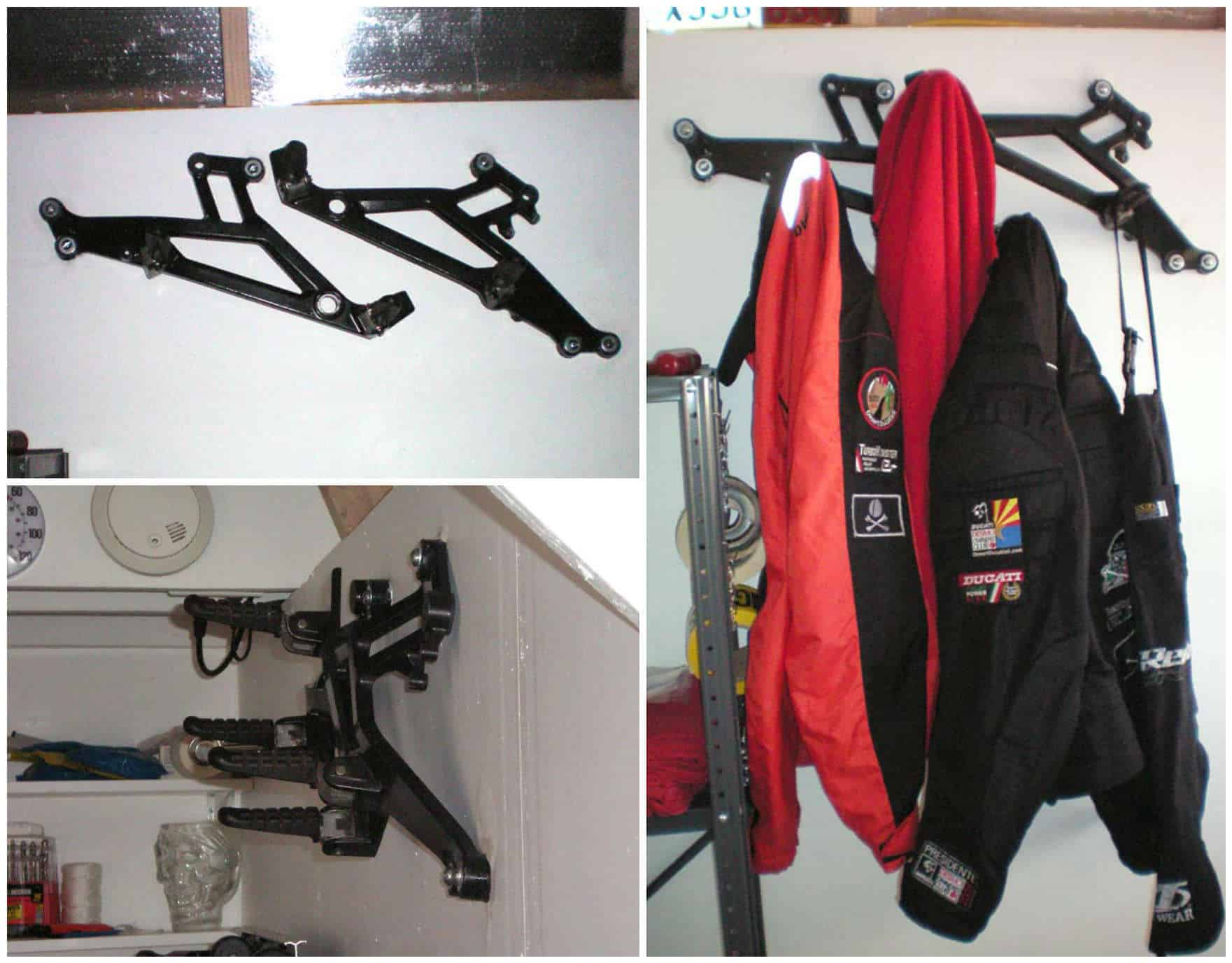 ducati parts into coat rack • recyclart