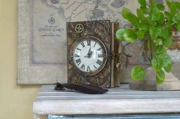 Scrapbook Chest Clock Accessories Recycling Paper & Books