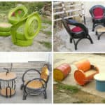 Upcycled Furniture From Old Tires, Oil Drums & Bike Parts