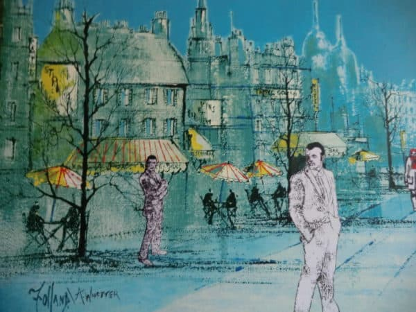 Walking In Paris: Re-worked Print Recycled Art