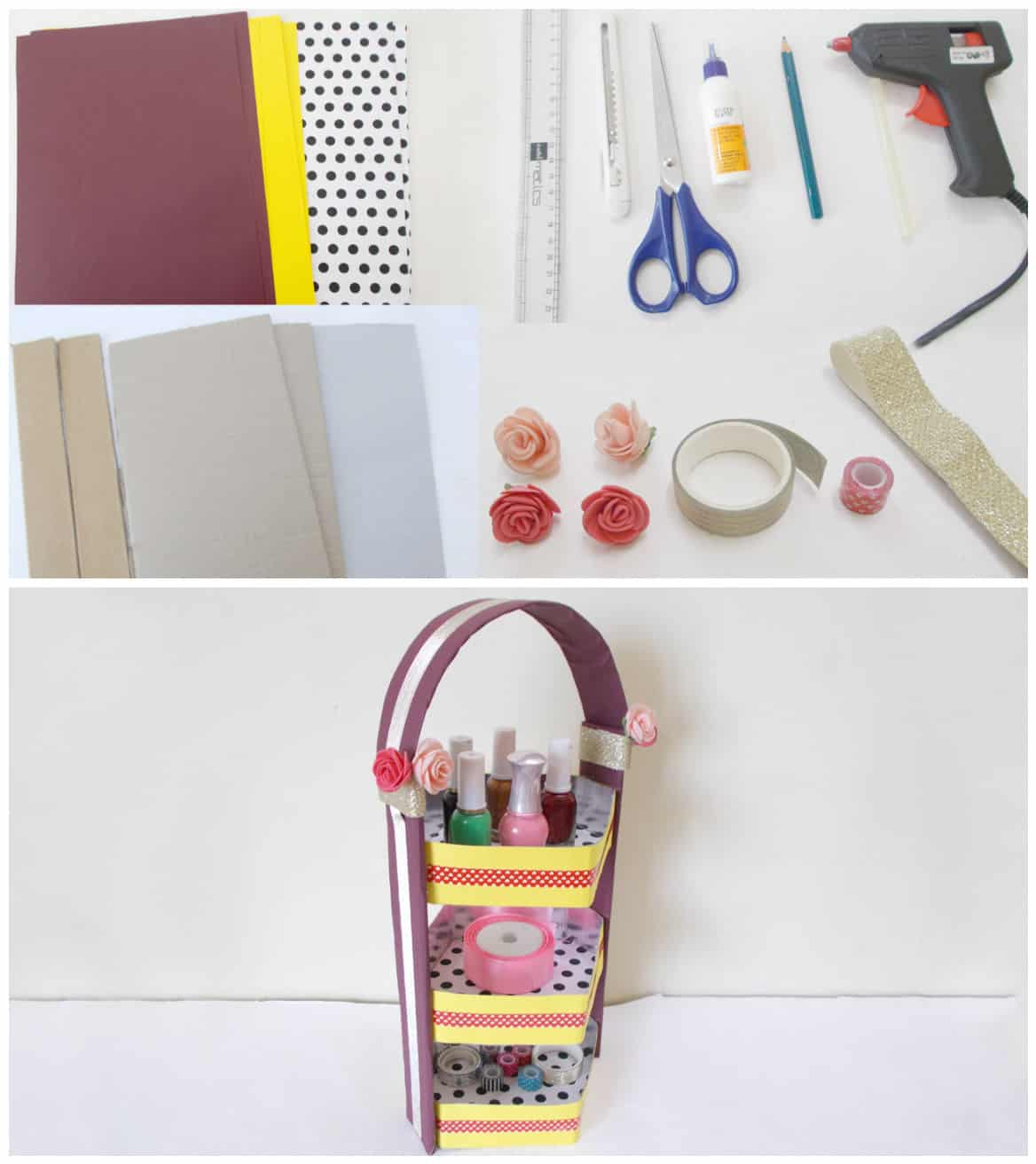 Diy Recycled Crafts How To Make Diy Cardboard Organizer