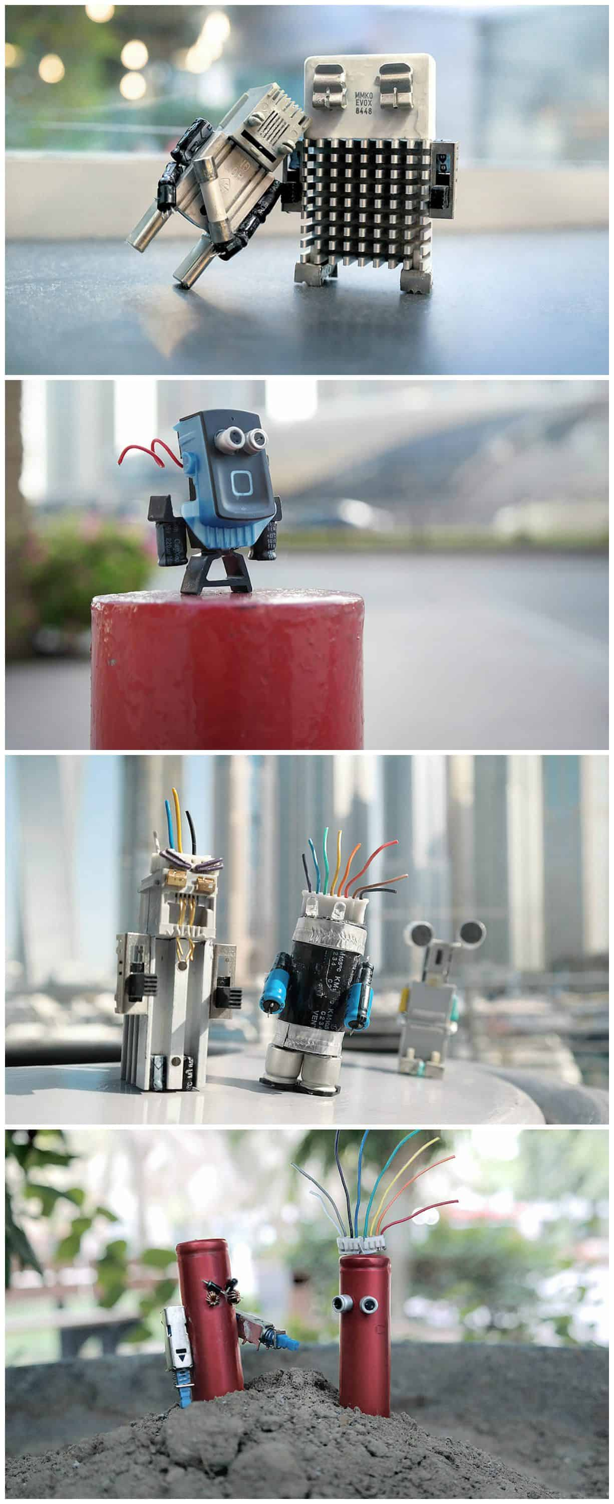 Make Art Not Waste Recycled Characters Out Of Electronic