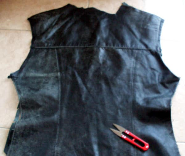 Old Leather Jacket Into Cushion Clothing