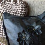 Old Leather Jacket Into Cushion