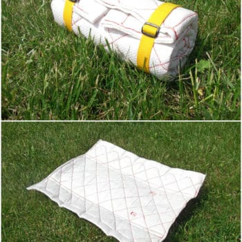 Outdoor Sitting Mattress From Recycled Plastic Cement Bag