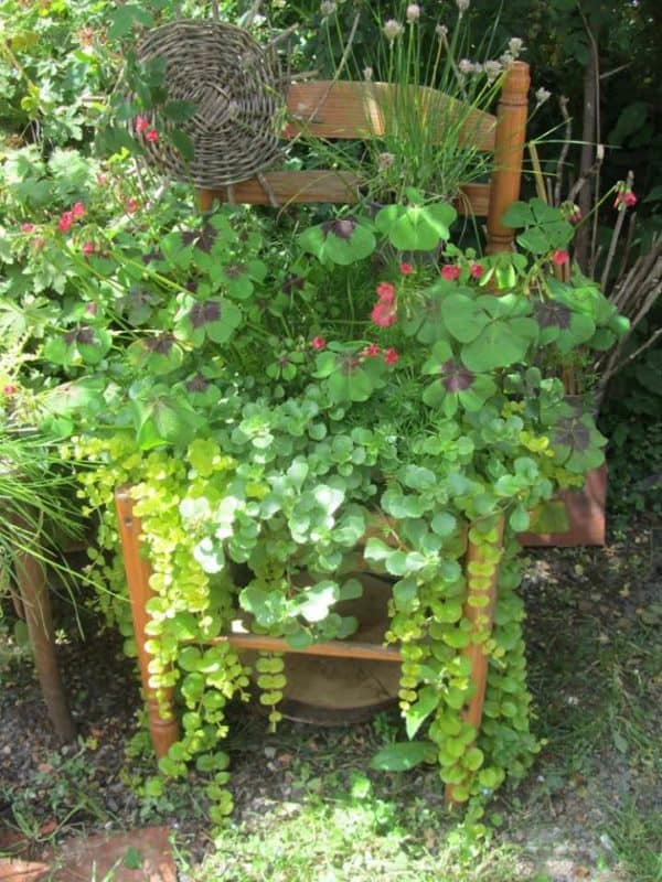 Shoes, Chairs & Tool Boxes: Everything Could Be Reused into Planters / Idée De Bac à Fleurs Pour Le Jardin Garden Ideas