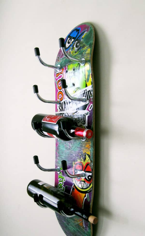 Skateboard Wine Rack #3 Home & décor Recycled Sports Equipment
