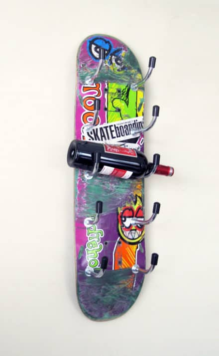 Skateboard Wine Rack #3