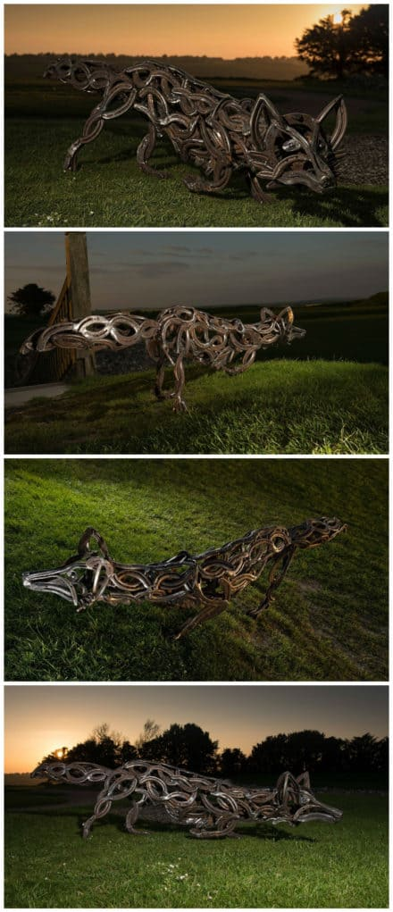 The Celtic Fox: Sculpture From Upcycled Horseshoes