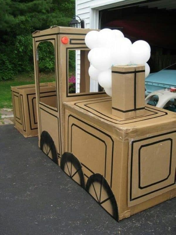 15 Ideas of Cardboard Trains That Your Kids Will Love Recycled Cardboard
