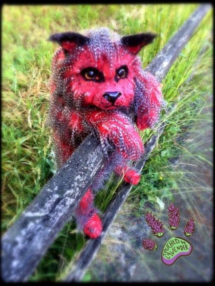Fantasy Wolf Pup Made From Recycled Clothing