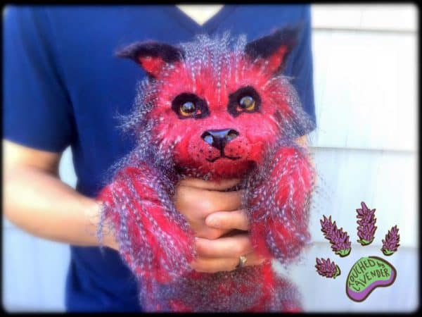 Fantasy Wolf Pup Made From Recycled Clothing Clothing