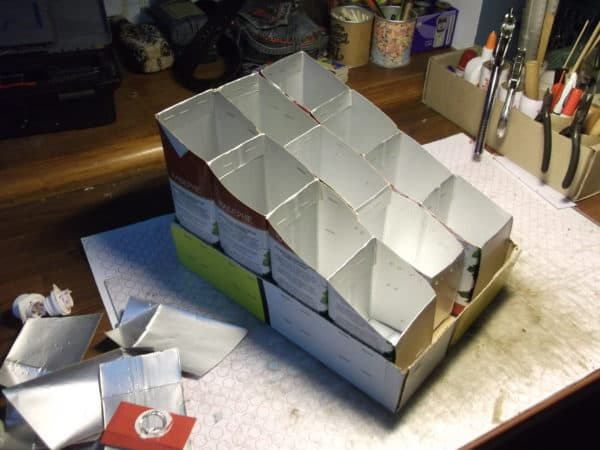 Quick Organizer From Tetra-pack Cartons Do-It-Yourself Ideas Recycled Packaging