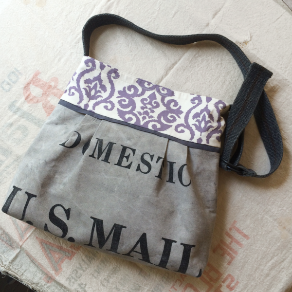 Upcycled US Mail Bag Into Shoulder Bag Accessories