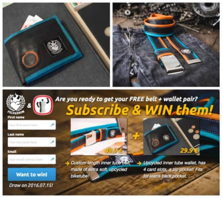 Win a Felvarrom Recycled Innertube Wallet & Belt