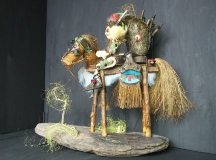 Biscornu: Recycled Art Sculpture