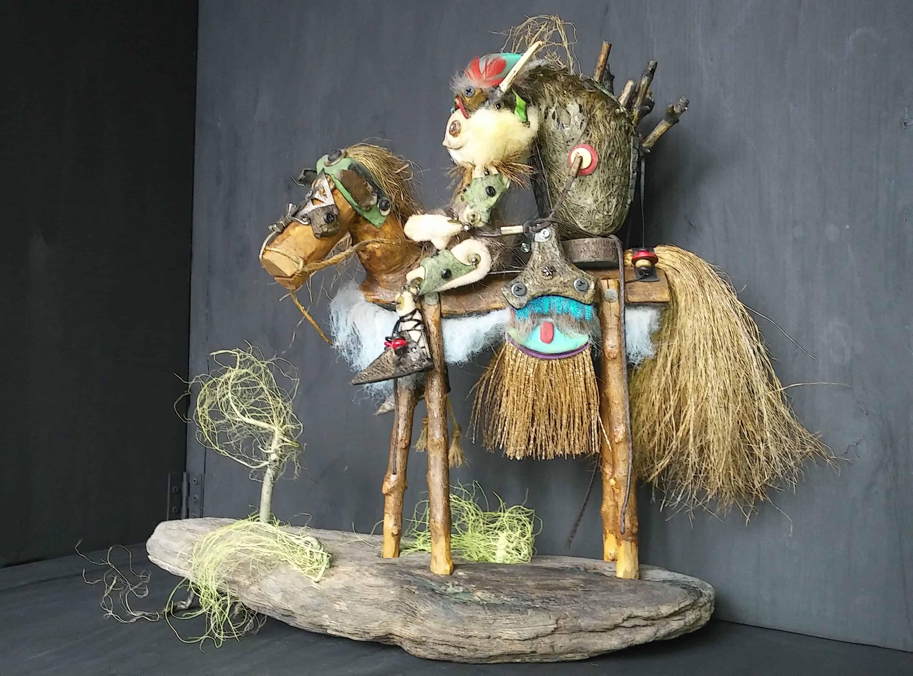 Biscornu: Recycled Art Sculpture • Recyclart