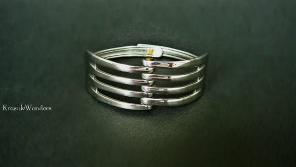 Hand-sculpted Fork Bracelet Upcycled Jewelry Ideas