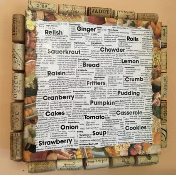 """Ingredients"" Recycled Kitchen Art Recycling Paper & Books"