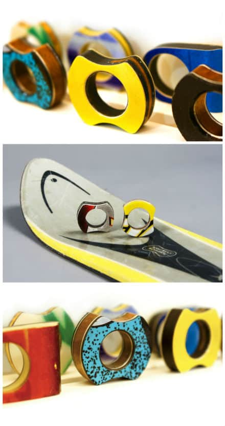 Rings Made Out Of Recycled Skis
