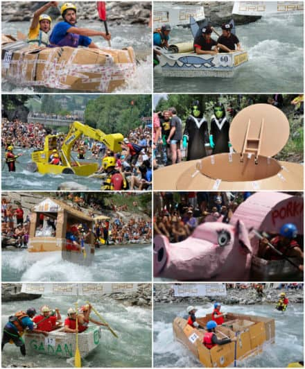 The Carton Rapid Race: Built Your Boat With Recycled Cardboard & Race