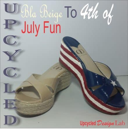 Upcycled Fourth Of July Shoe Fun