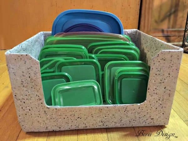 Freebie Diy: Recycled Food Storage Lid Organizer Recycled Cardboard
